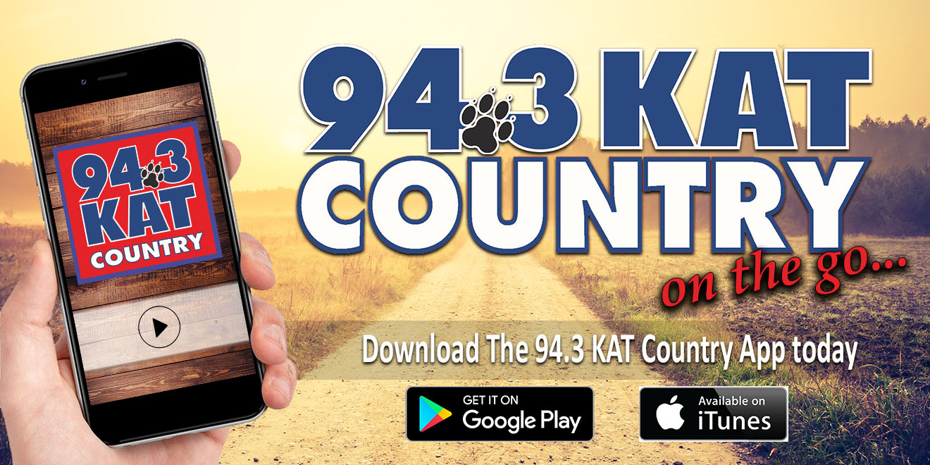 Listen To 94.3 KAT Country Wherever You Go!